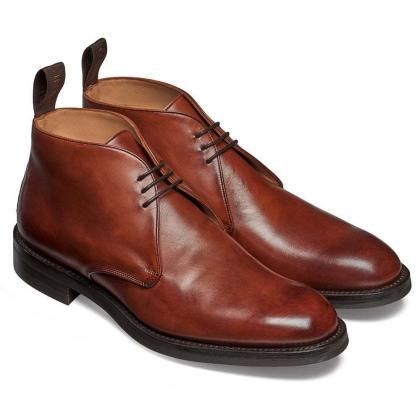 36a79aab55fd4 Handmade Men Formal Ankle Four Ring Lace-Up Derby Jodhpur Boots (SB)